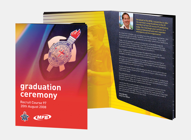 Gray Design Metropolitan Fire Brigade Brochure