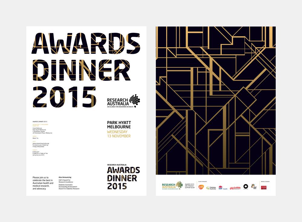 Gray Design Research Australia Awards Dinner Invite
