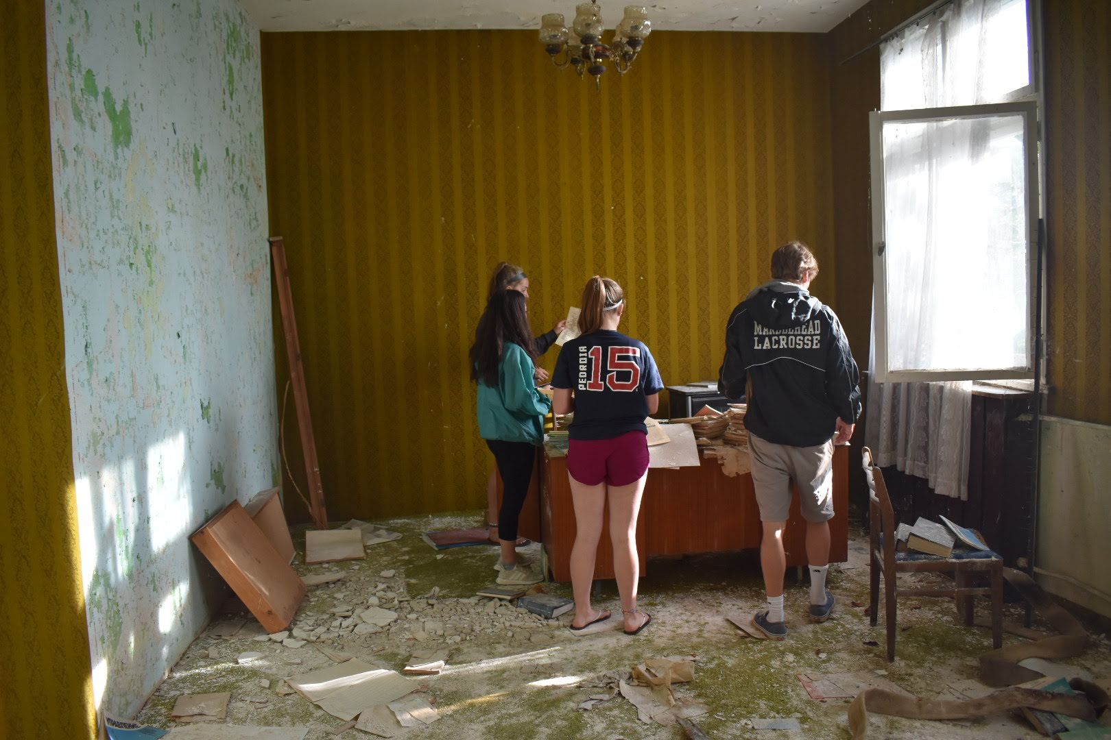 Exploring an abandoned room