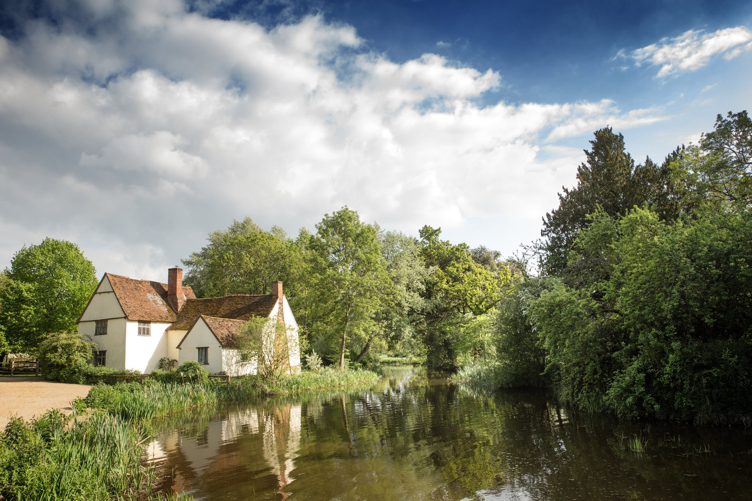 Bridge Cottage in Flatford - the inspiration for landscape artist John Constable's The Hay Wain and The Mill Stream