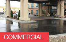 Parking lot and building power washing services