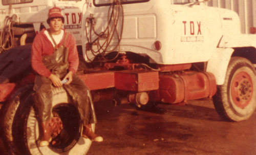 A young David Thomas in the early days of Thomas Brothers Mobile Wash.