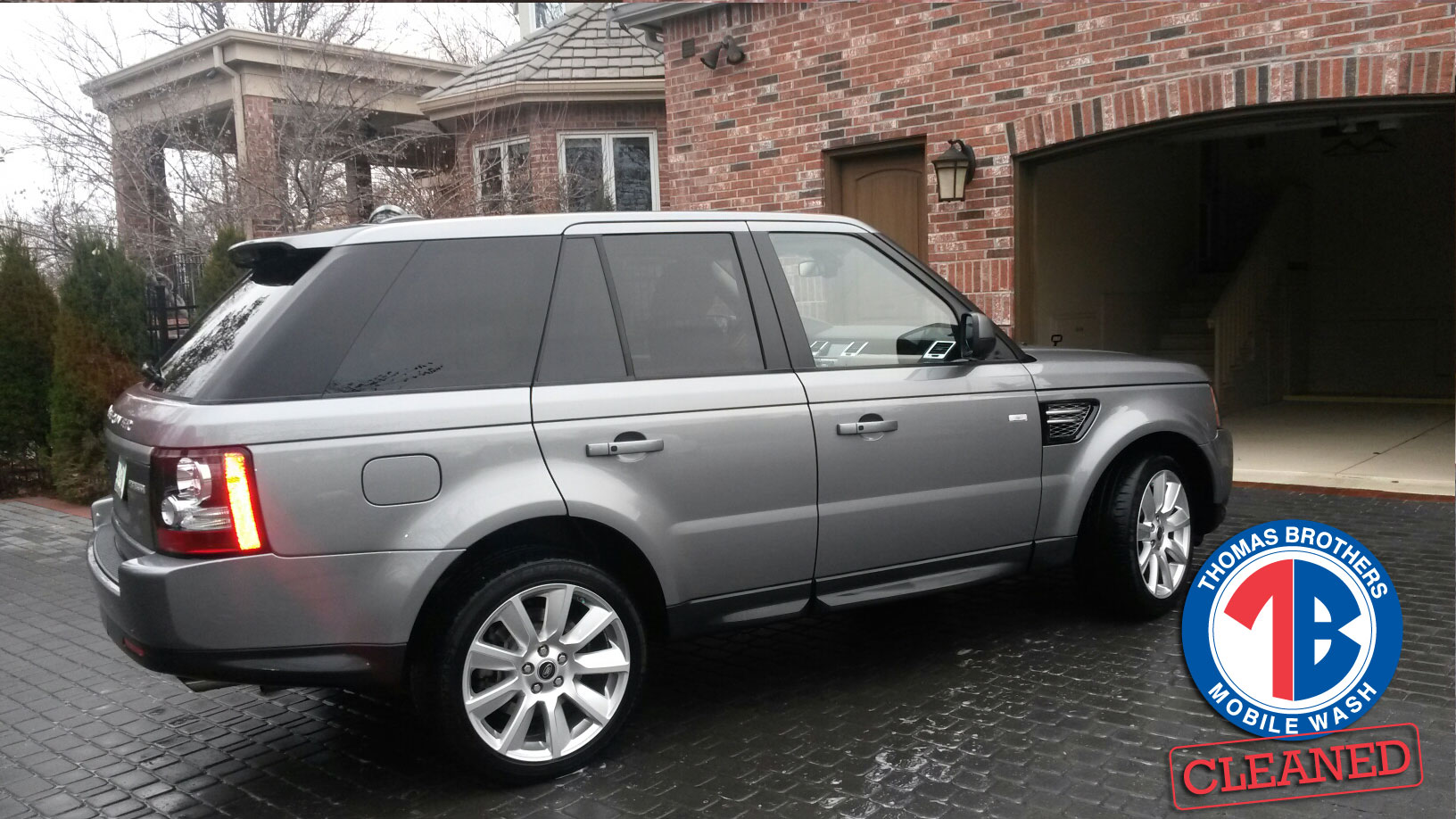 Range Rover power washed clean