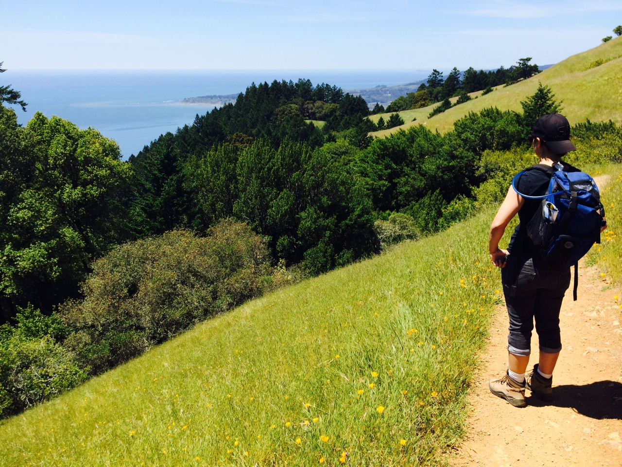 Rel on the Dipsea Trail in Marin.