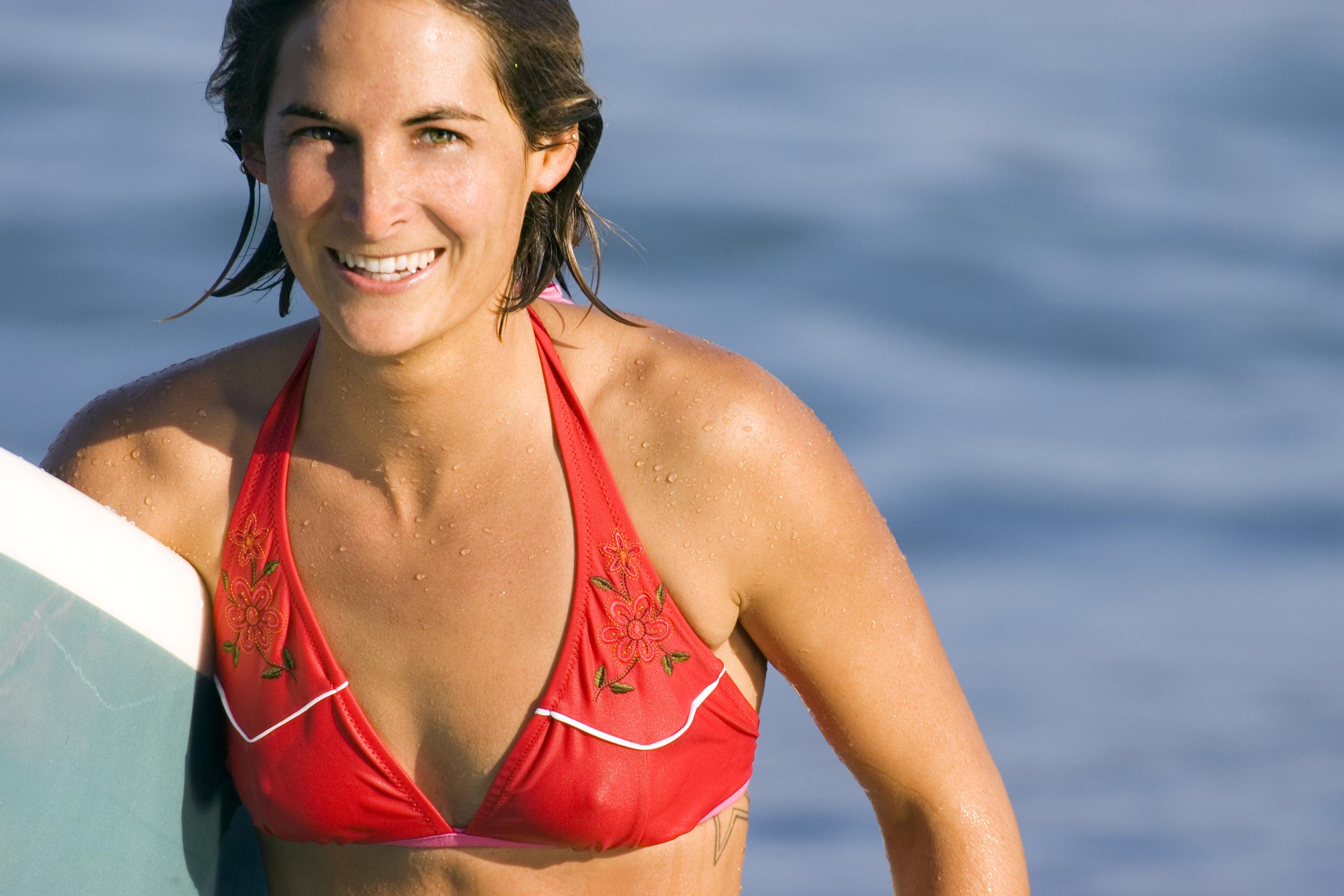 Julie on the cover of the Athleta catalog 2006. Photo: Lori Adamski-Peak