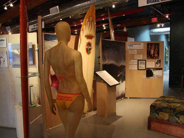 "1970s Hand knitted suit by Jericho Poppler for the ""Golden Girls"" raising awareness for women's surfing"
