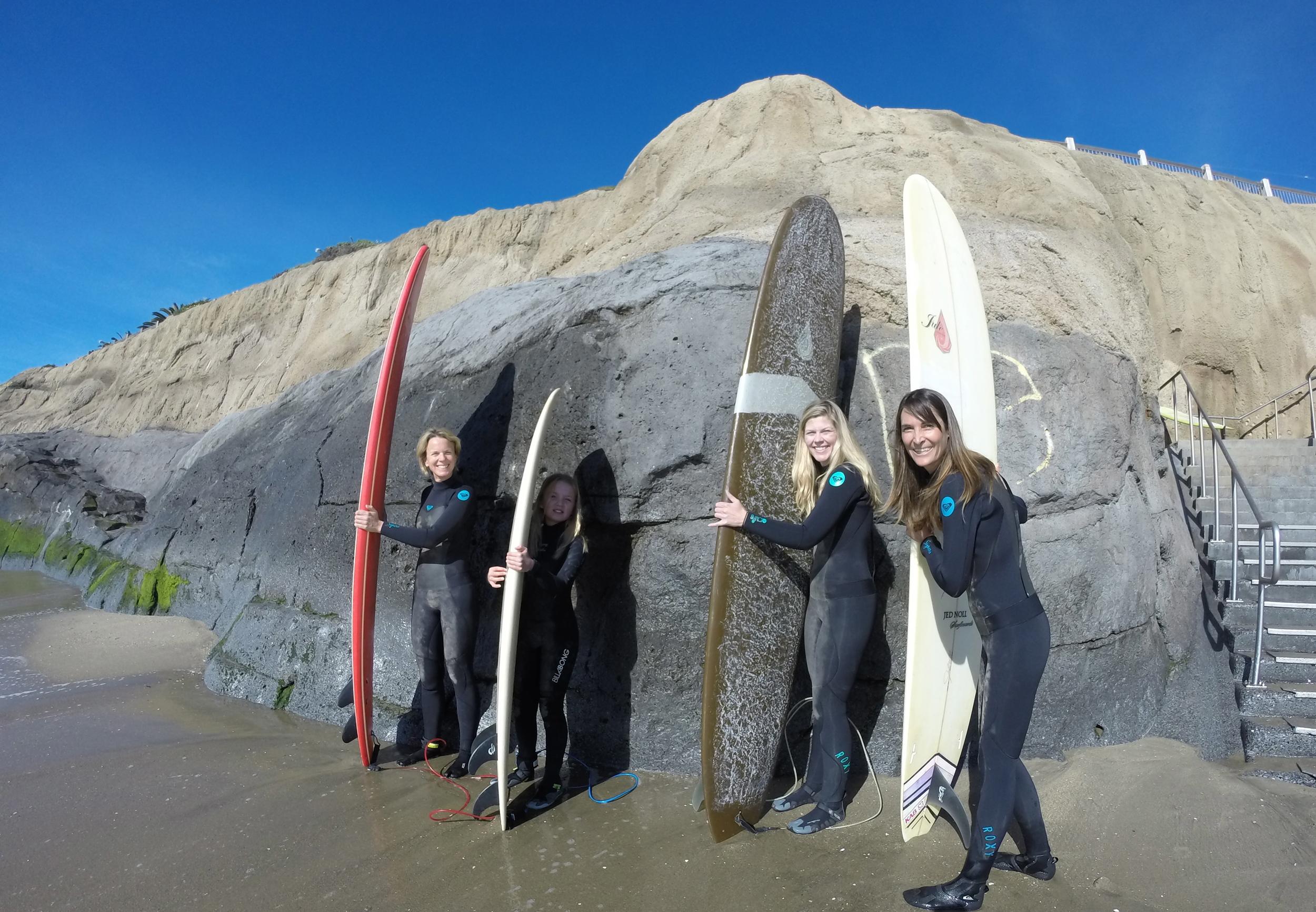 Kristin, Caity, Kristin, and Julie in Santa Cruz