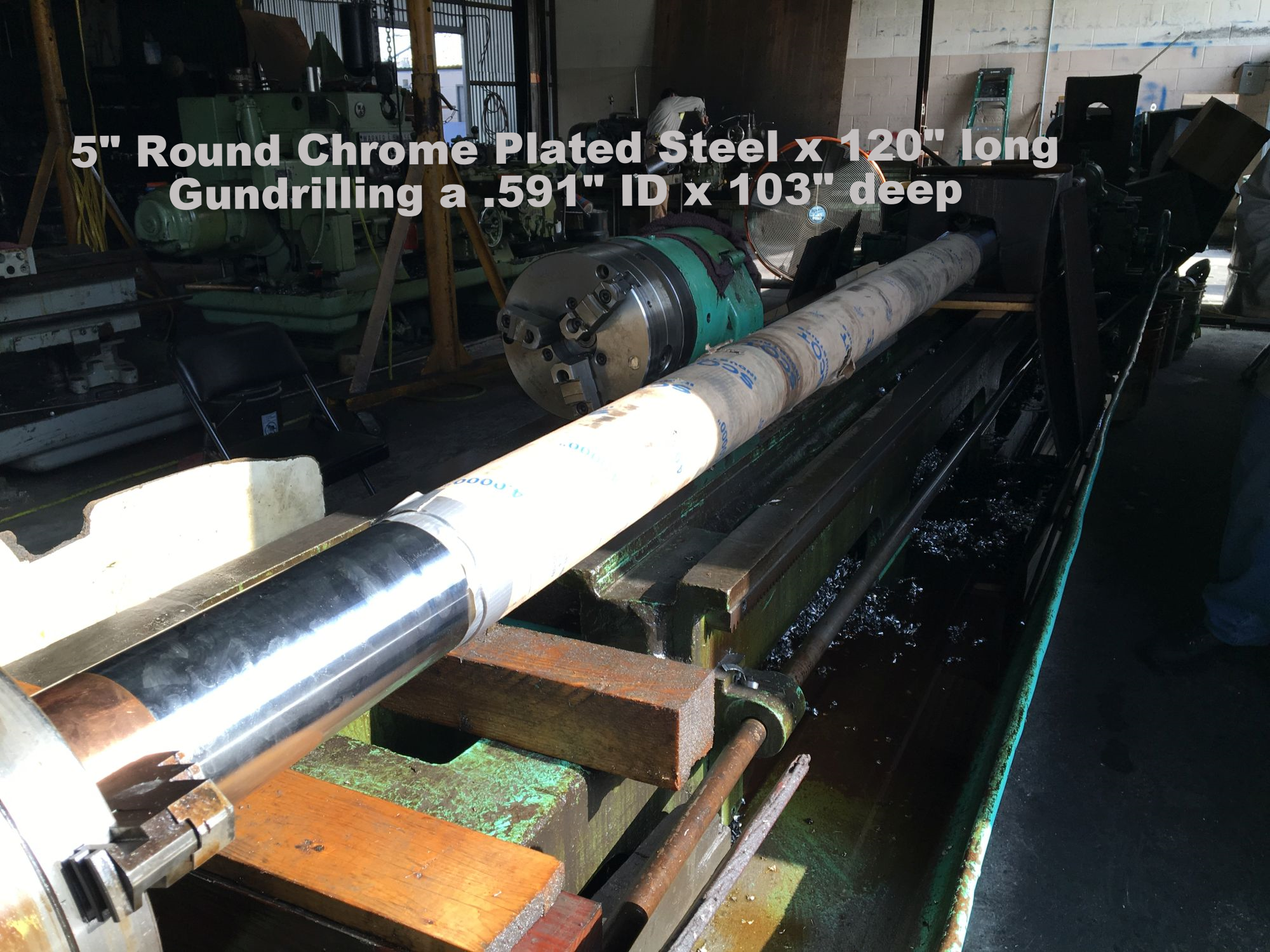 "Gundrilling .591"" ID x 103"" blind"