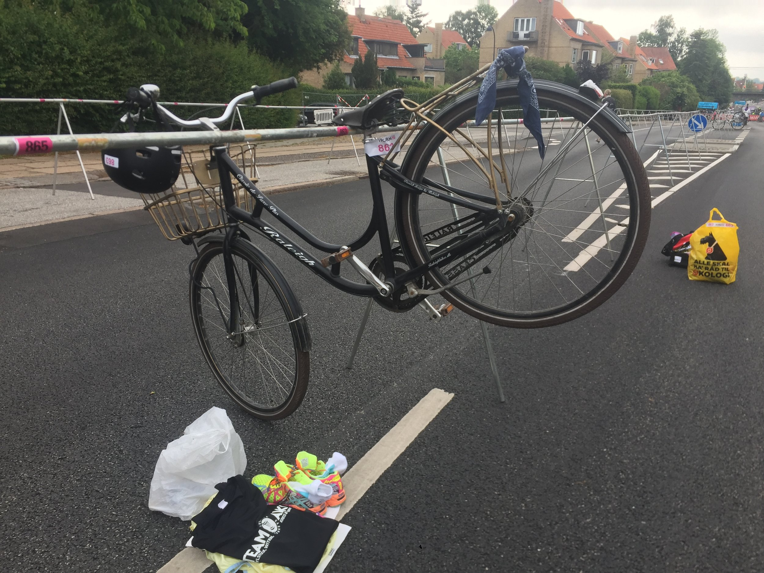 Heaviest bike on the course!