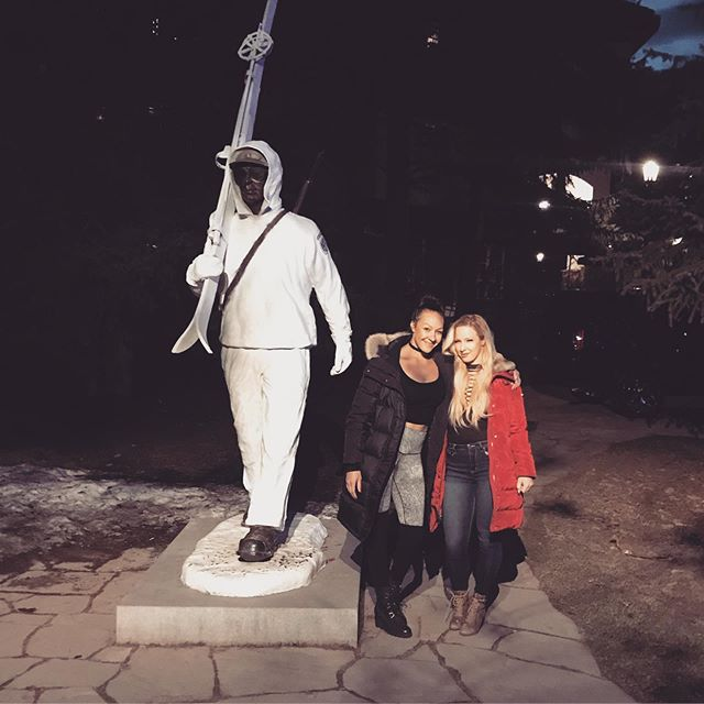 Vail, Colorado. April, 2019.  Did you really ski Vail if you don't get a photo by the soldier statue? #somehowmadeit #cartroubles #vailbarcrawl #skihouse #travelbug