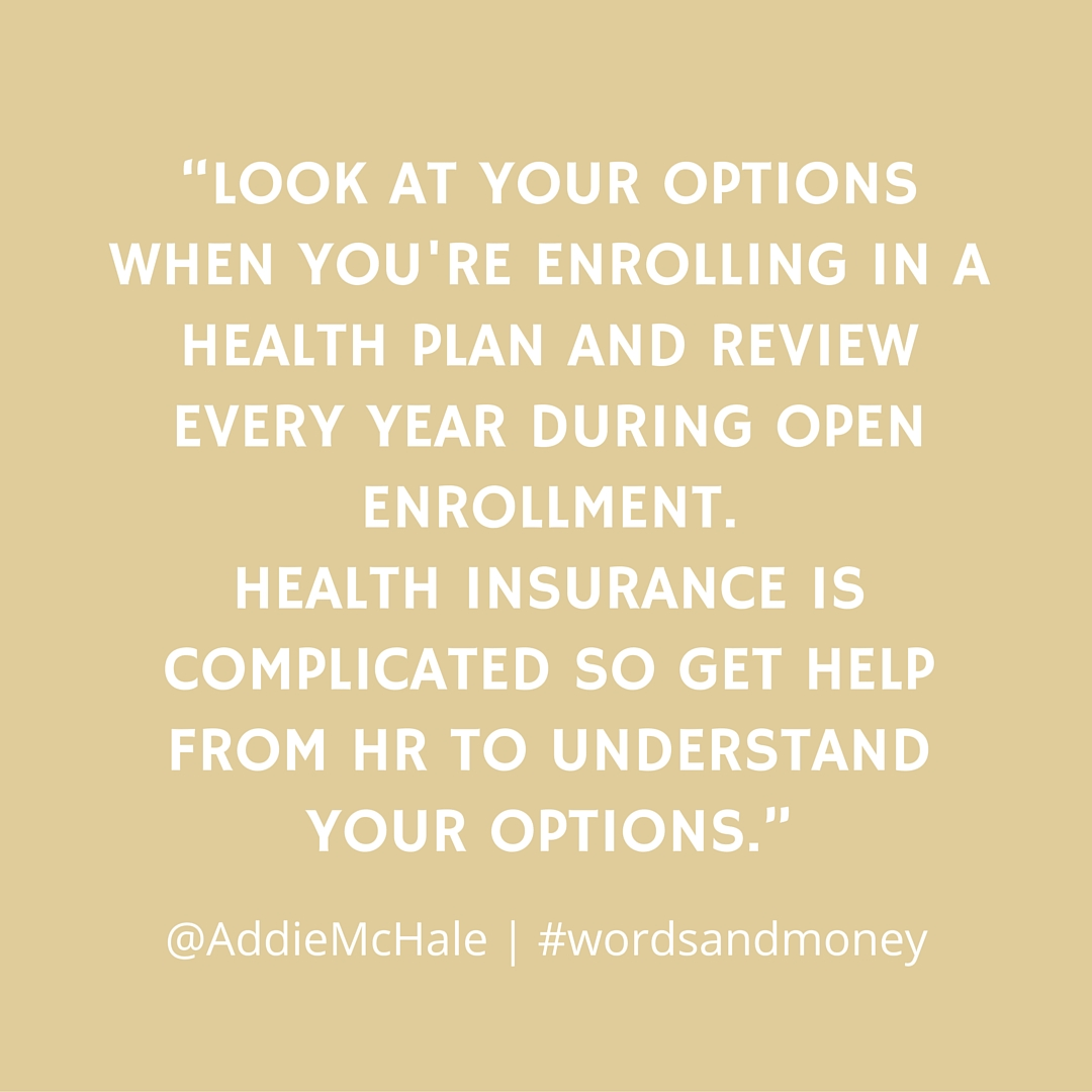 Addie McHale discusses Health Insurance on the Words and Money Podcast