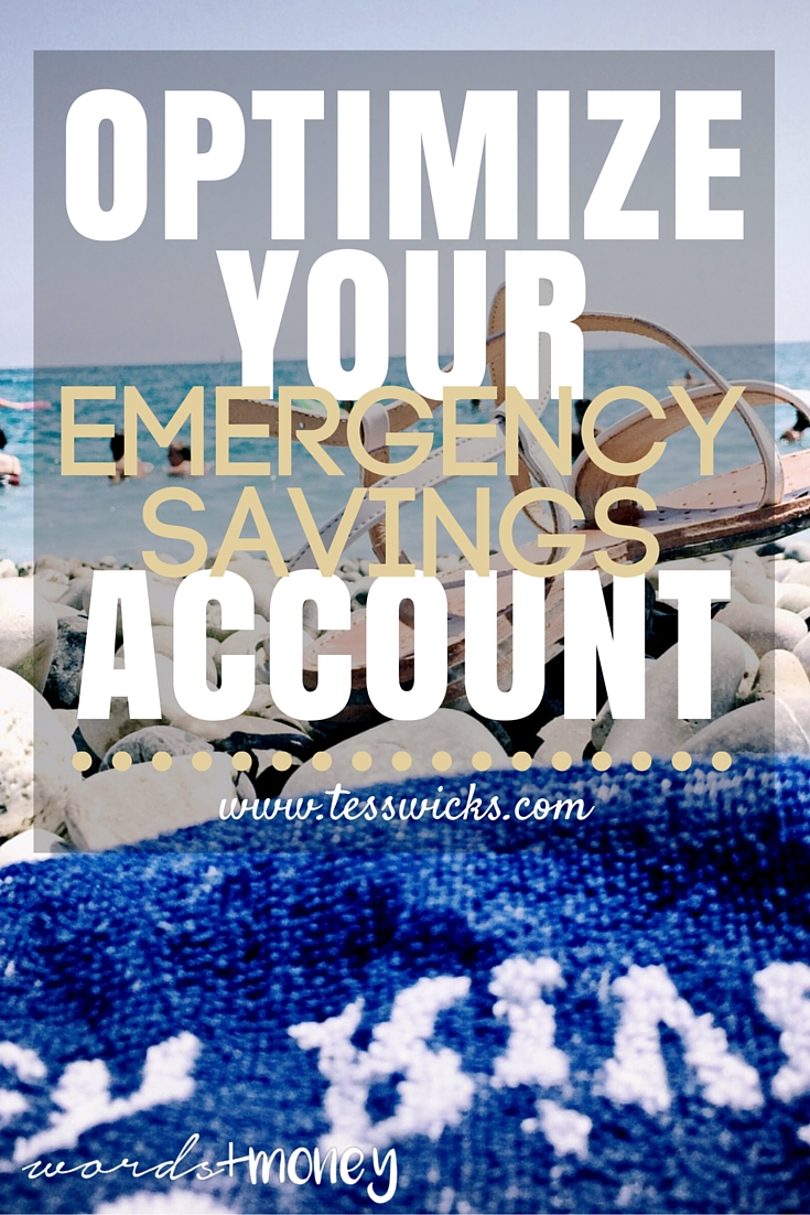 Learn how to optimize your emergency savings account from this episode of the Words and Money Podcast.