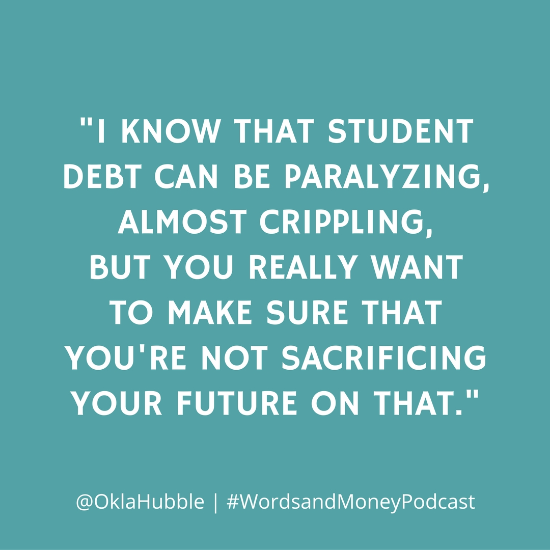 Prioritizing student loans and retirement savings is a difficult choice to make. Hear how Amy Hubble, Chief Advisor at Radix Financial, would talk you through the process. Now on the Words and Money Podcast