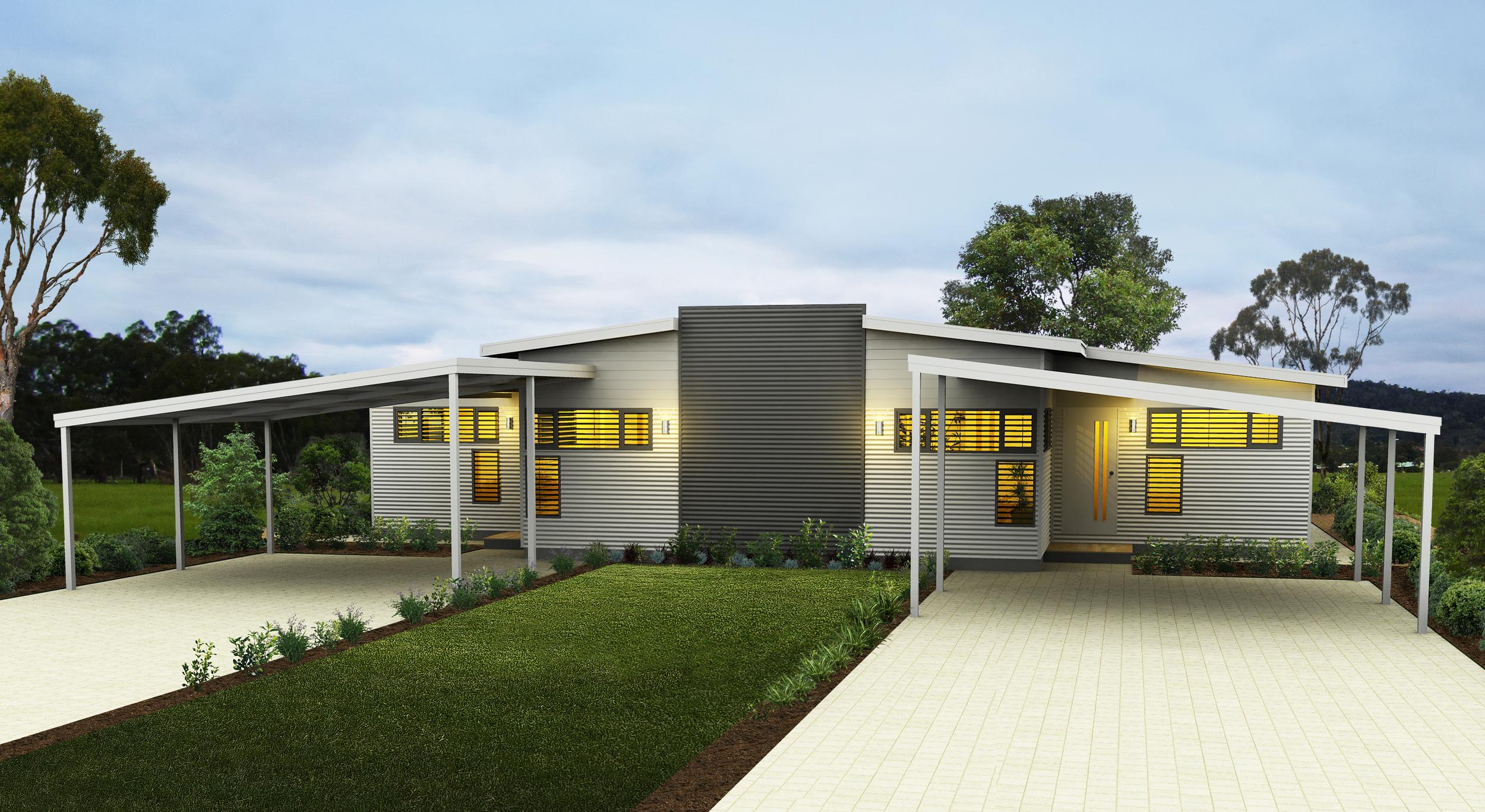 Design flexibility : Our design and drafting team can create one-off designs like this Killara duplex.