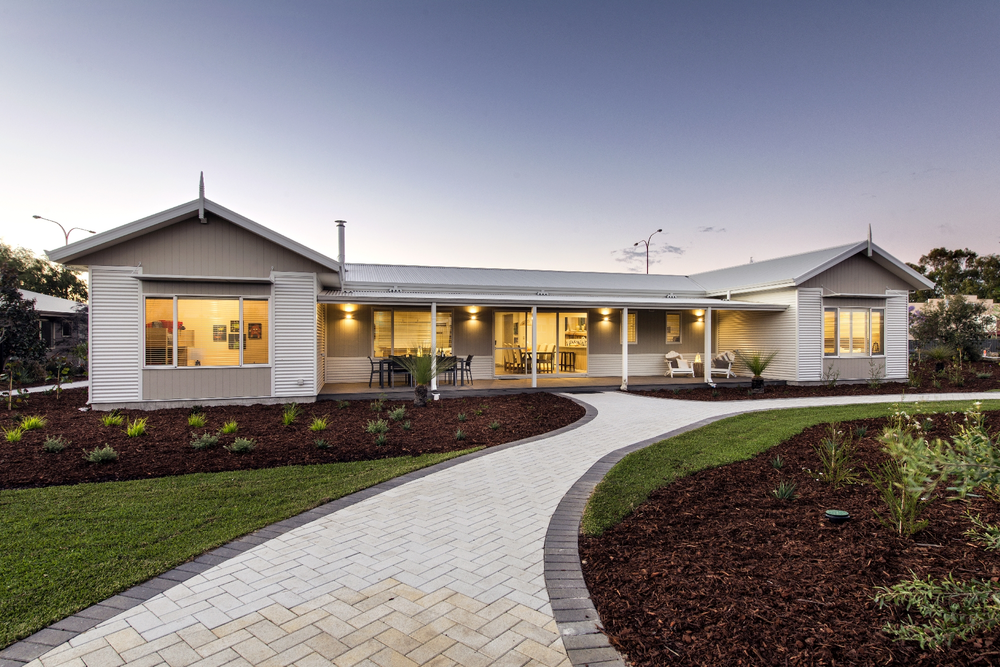 Modular mansion: The five bedroom, three bathroom Grange home has a theatre and games room.