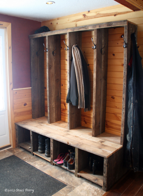 A rustic, sturdy, country DIY job from  Staci Perry .
