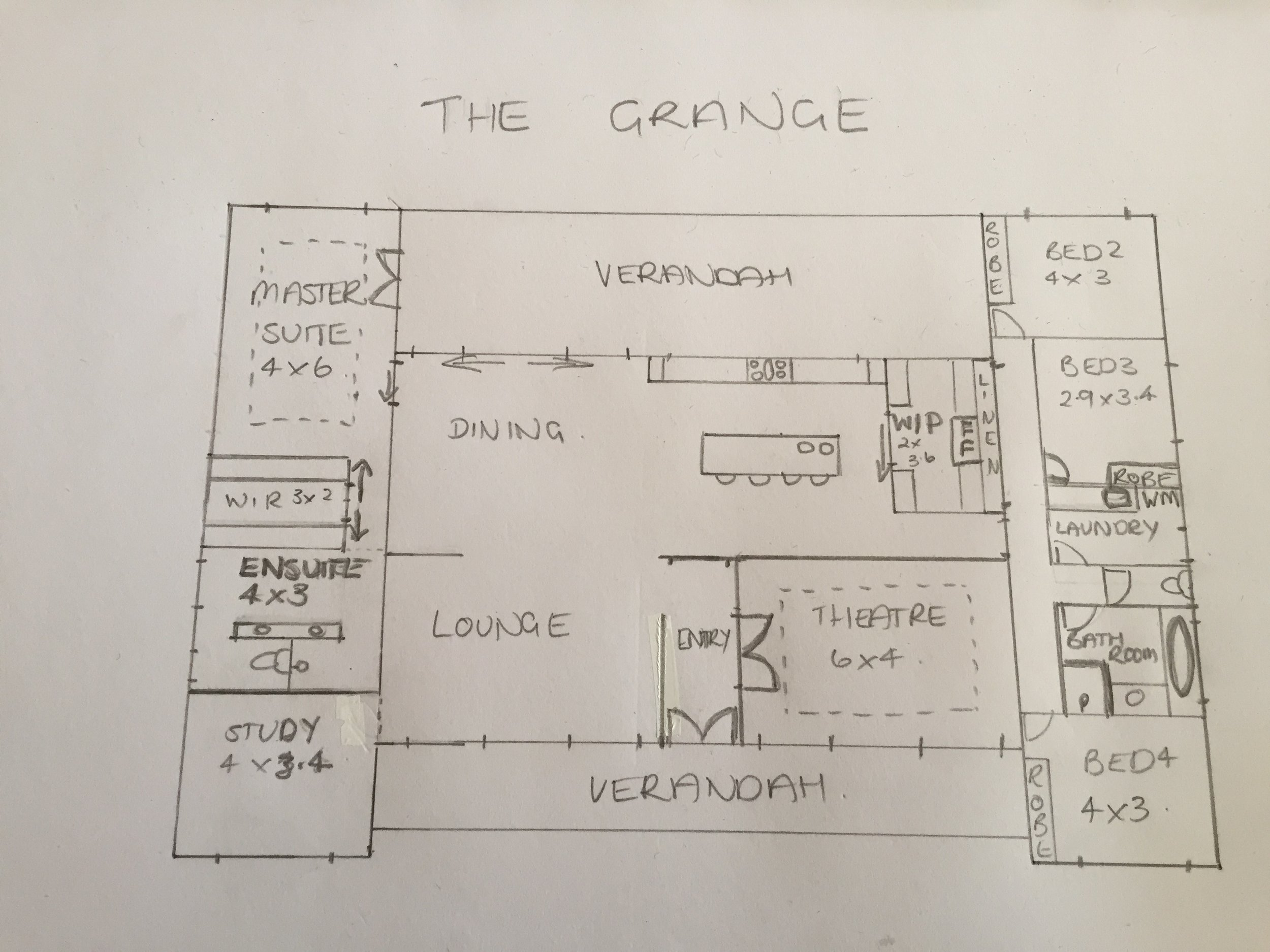Tracy Coid's winning entry - personalise The Grange floorplan category.