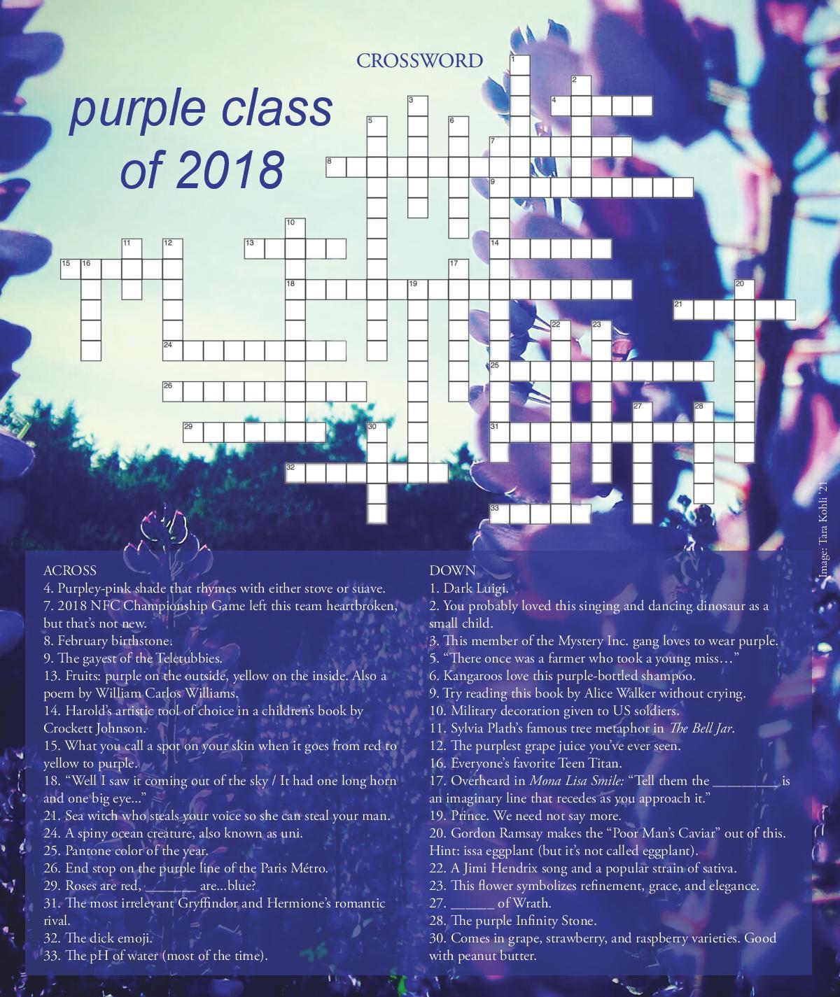May 2018: Purple Class of 2018