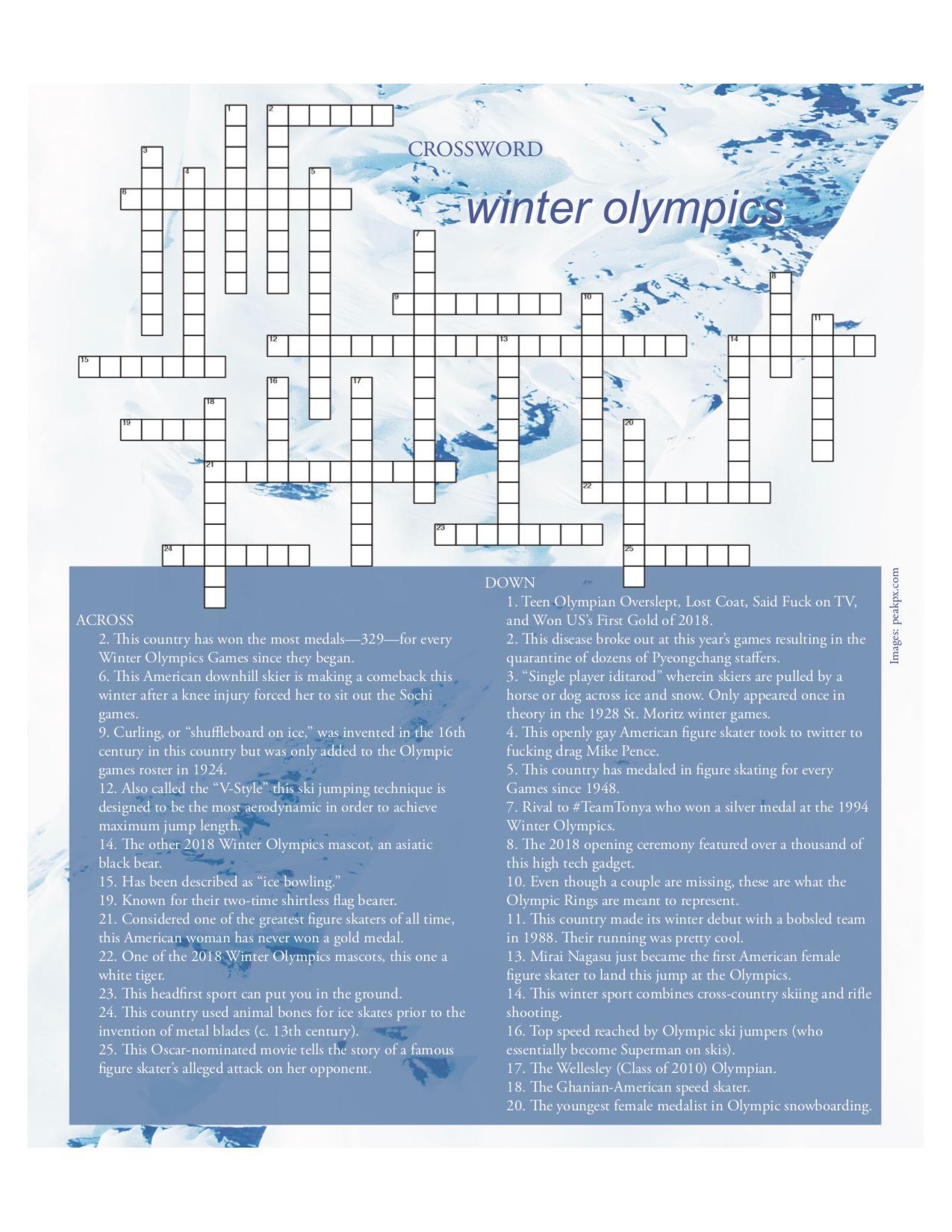 February 2018: Winter Olympics