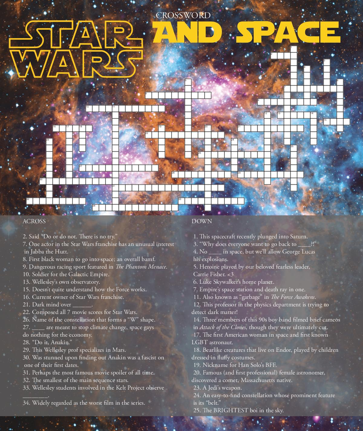 December 2017: Star Wars and Space