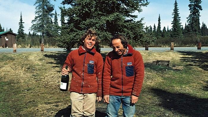 Yvon Chouinard and Rick Ridgeway on the Kenai Peninsula in Alaska.