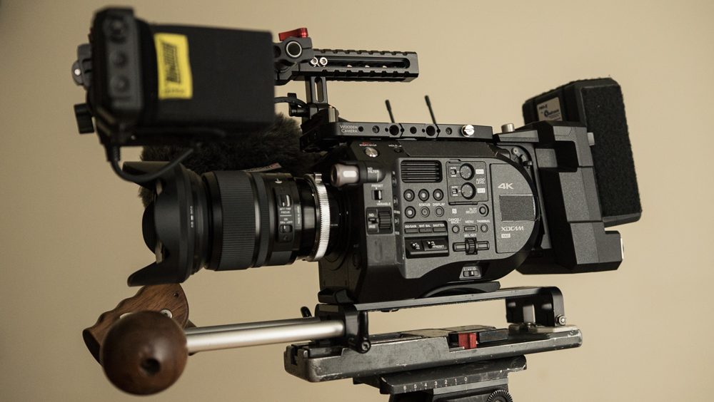 Rush Design's VCT plate on the Sony FS7 Mark II.