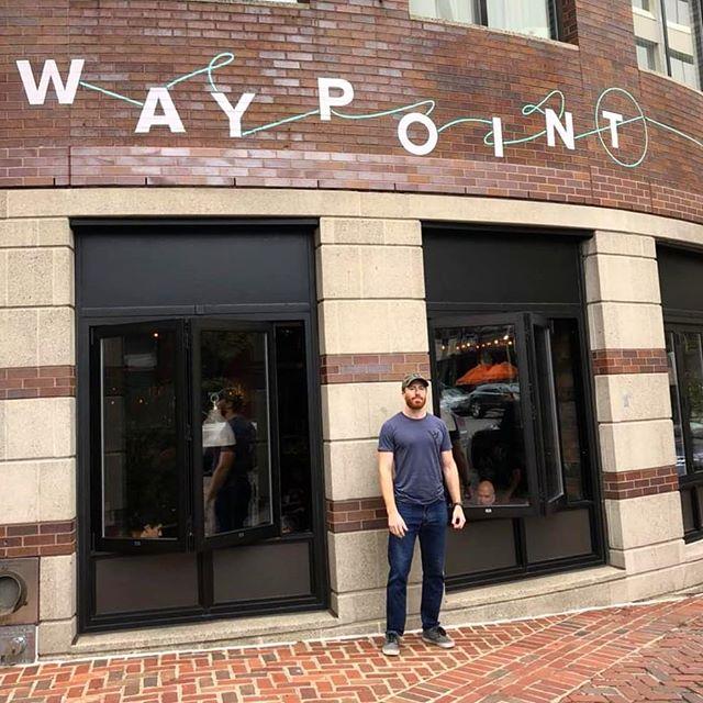 Excellent restaurant in all regards.  #waypoint #onpoint #hahhhvard #gingereats #prestigeworldwide #boston #cambridge #MIT #nerds #cleveland #realassfundamentals #realassfood