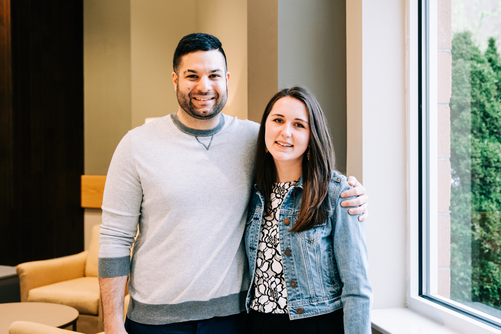 Kevin Kosmal and his fianceé, Ali Stashak.