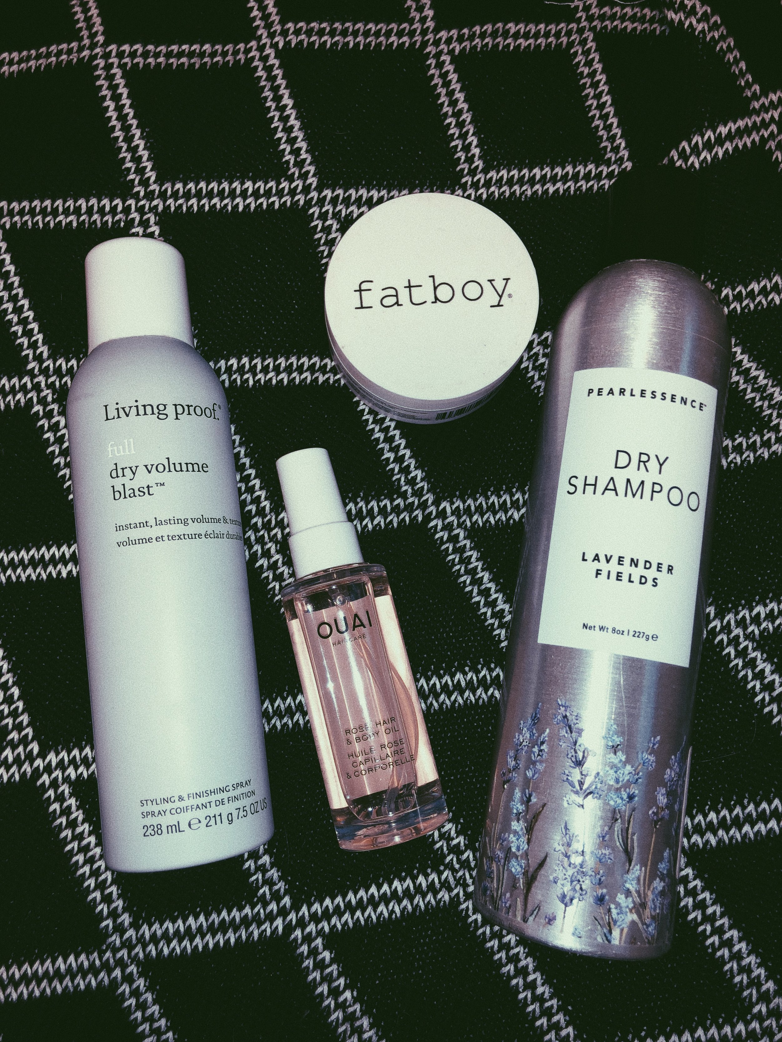 """Hair Necessities - Everything I need to hydrate, style, and """"clean"""" my hair."""