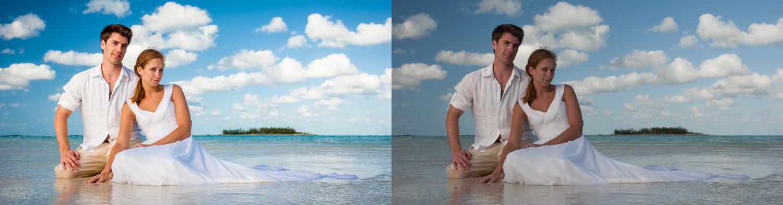 Processed in 3 clicks with the  Smart Portrait Preset System  .   Fuzzy Peaches + Orange Skin Fix 3 + Lighten Skin 4