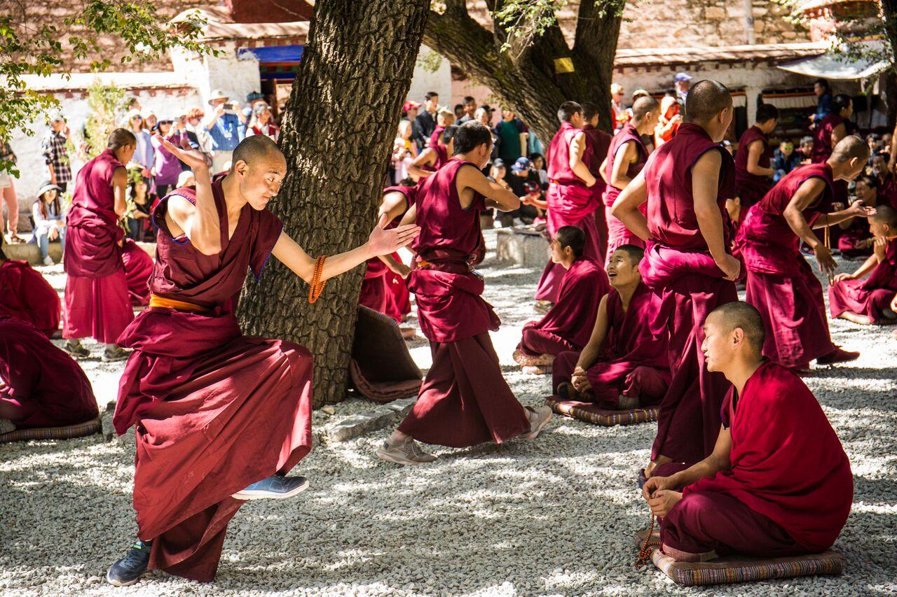 Monks in Lhasa debating.