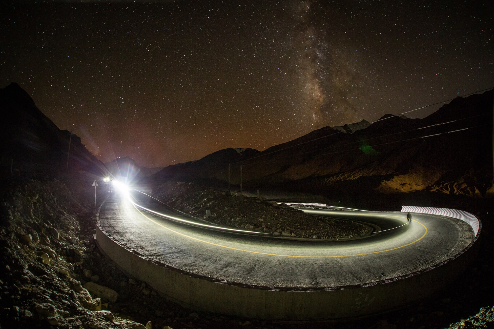 The night sky at the Tibetan Base Camp is something I'll never forget.