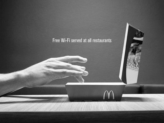 Wifi gratuitoen losMcDonald's.