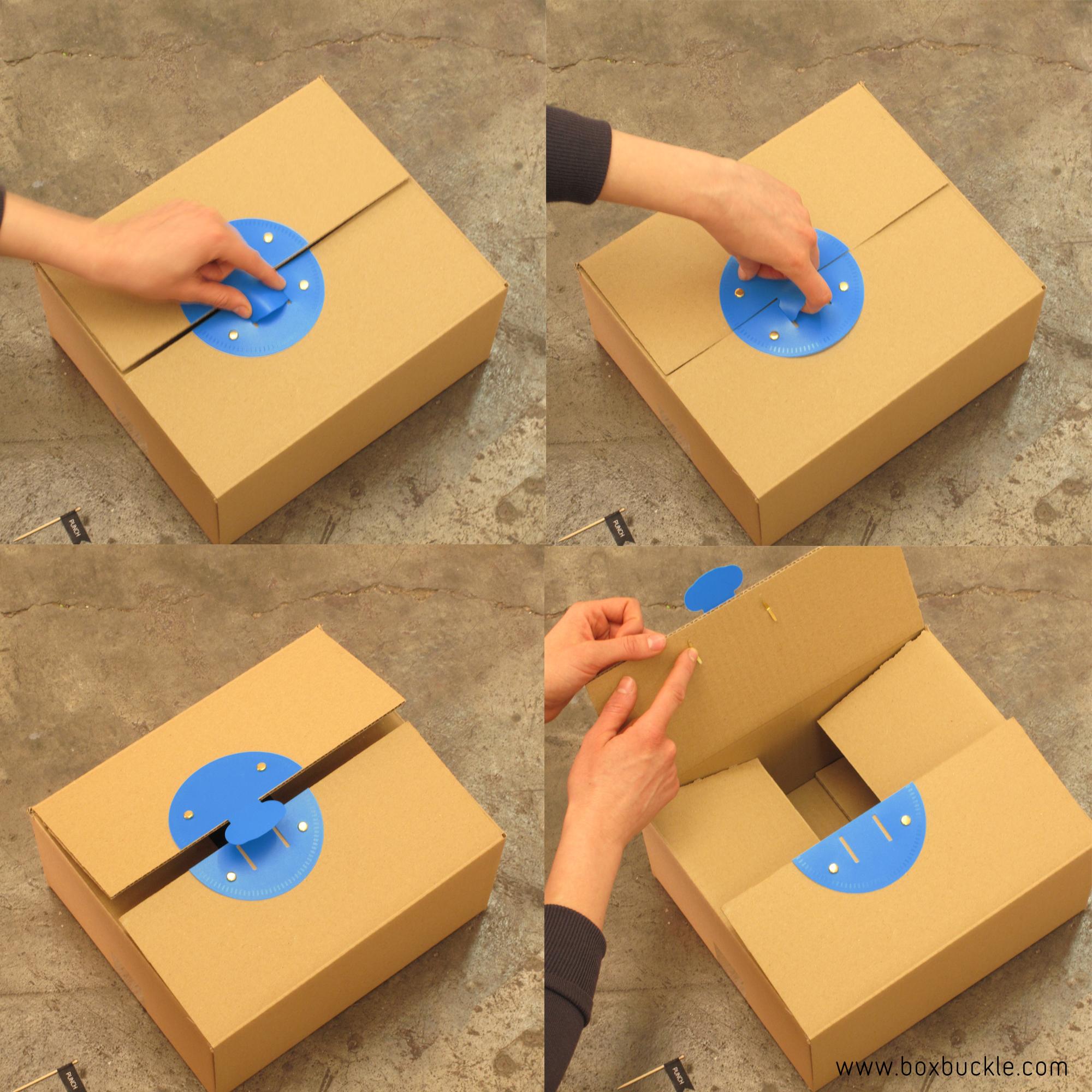 Així funciona la tanca de Boxbuckle. La pots obrir i tancar amb una sola mà!