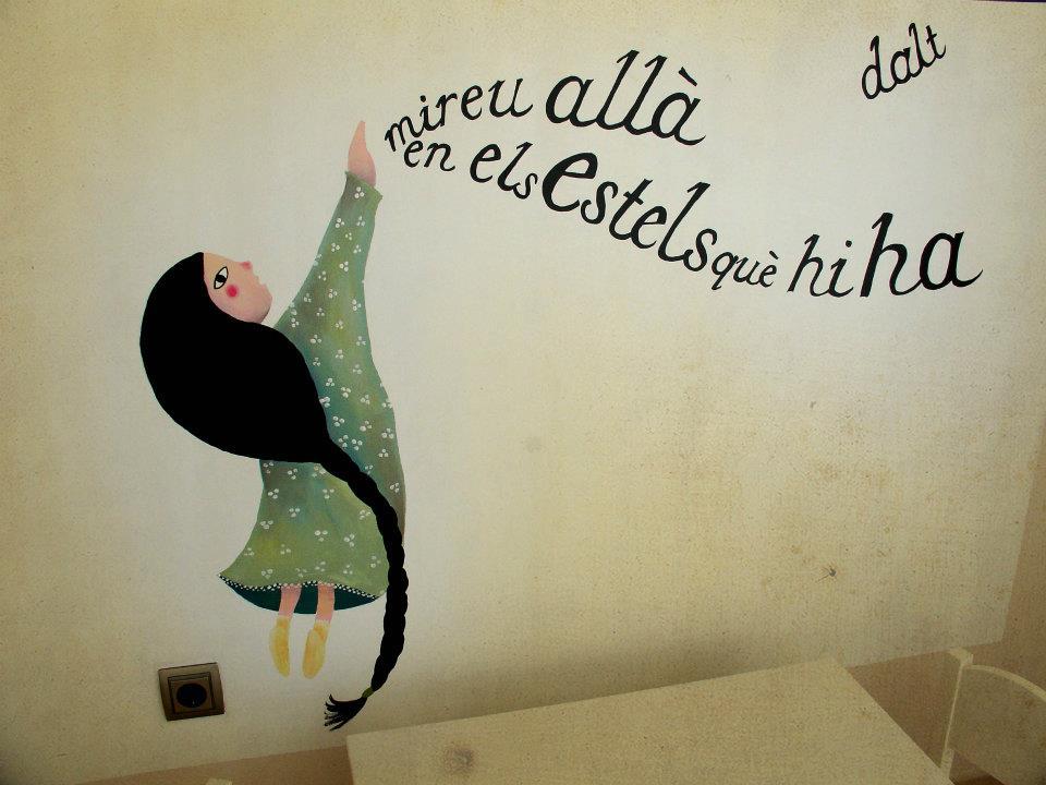 Un mural il·lustrat per Anna Terricabras.
