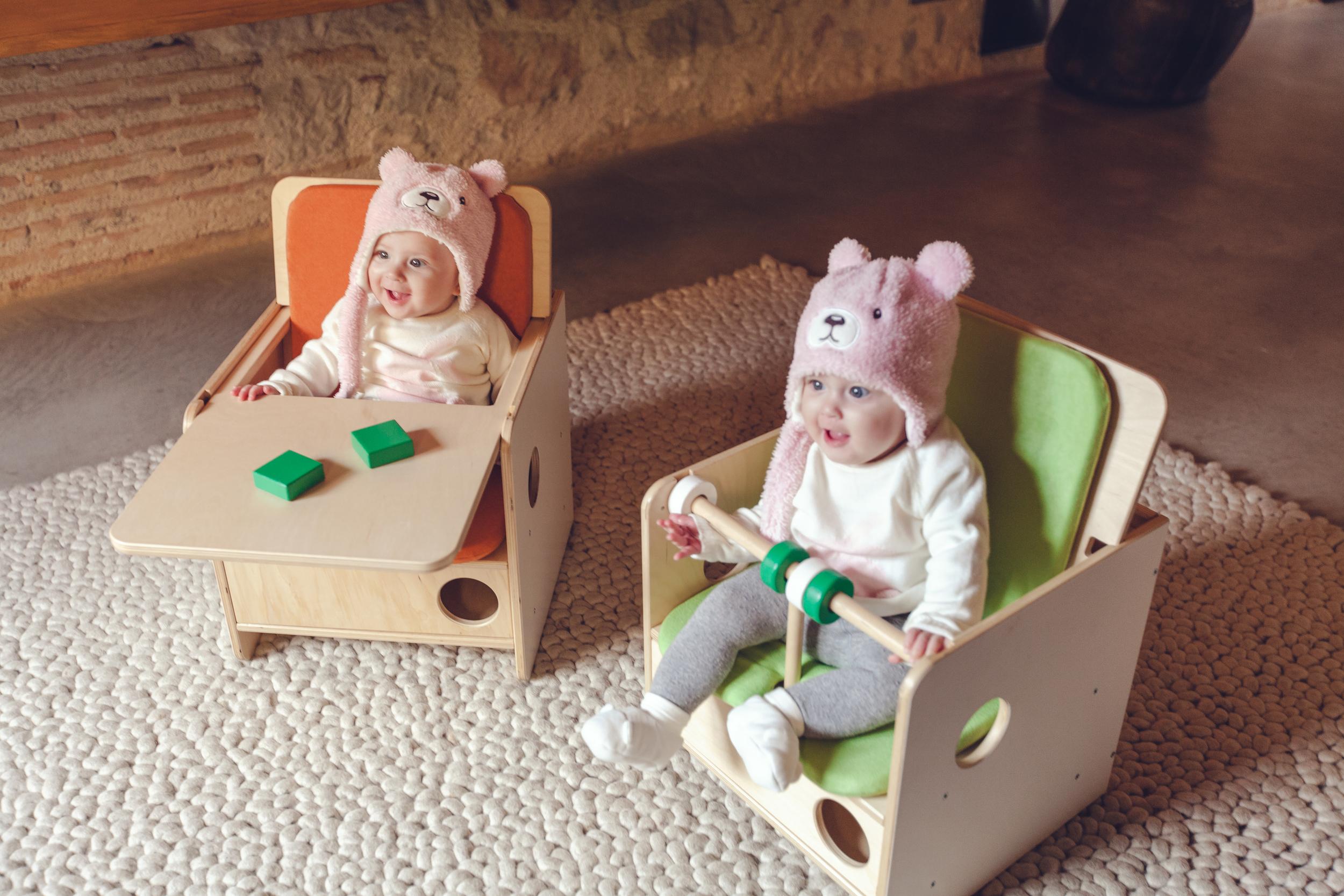 La cadira OSIT evoluciona a mesura que el nen creix.