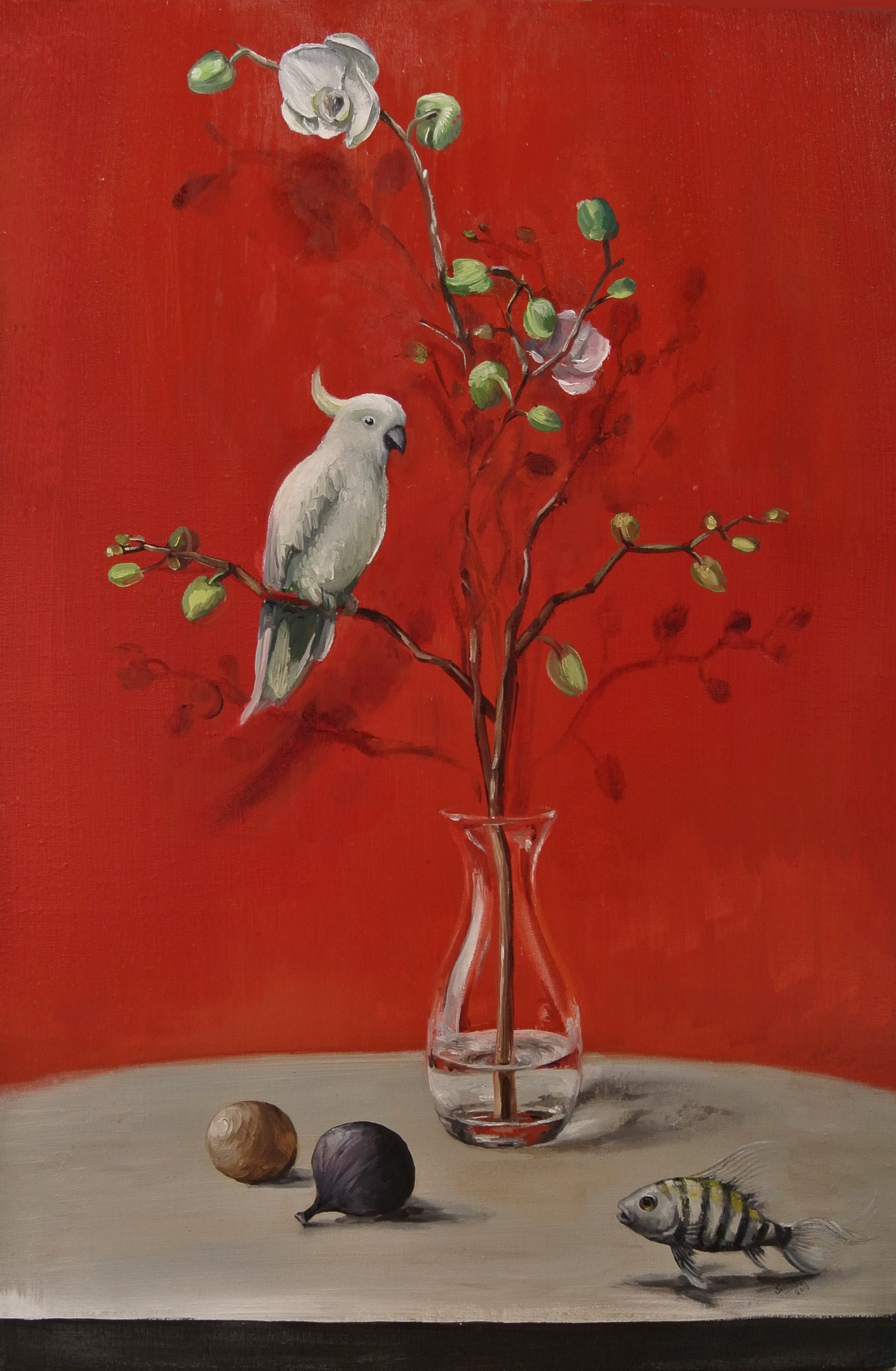 The small red still life