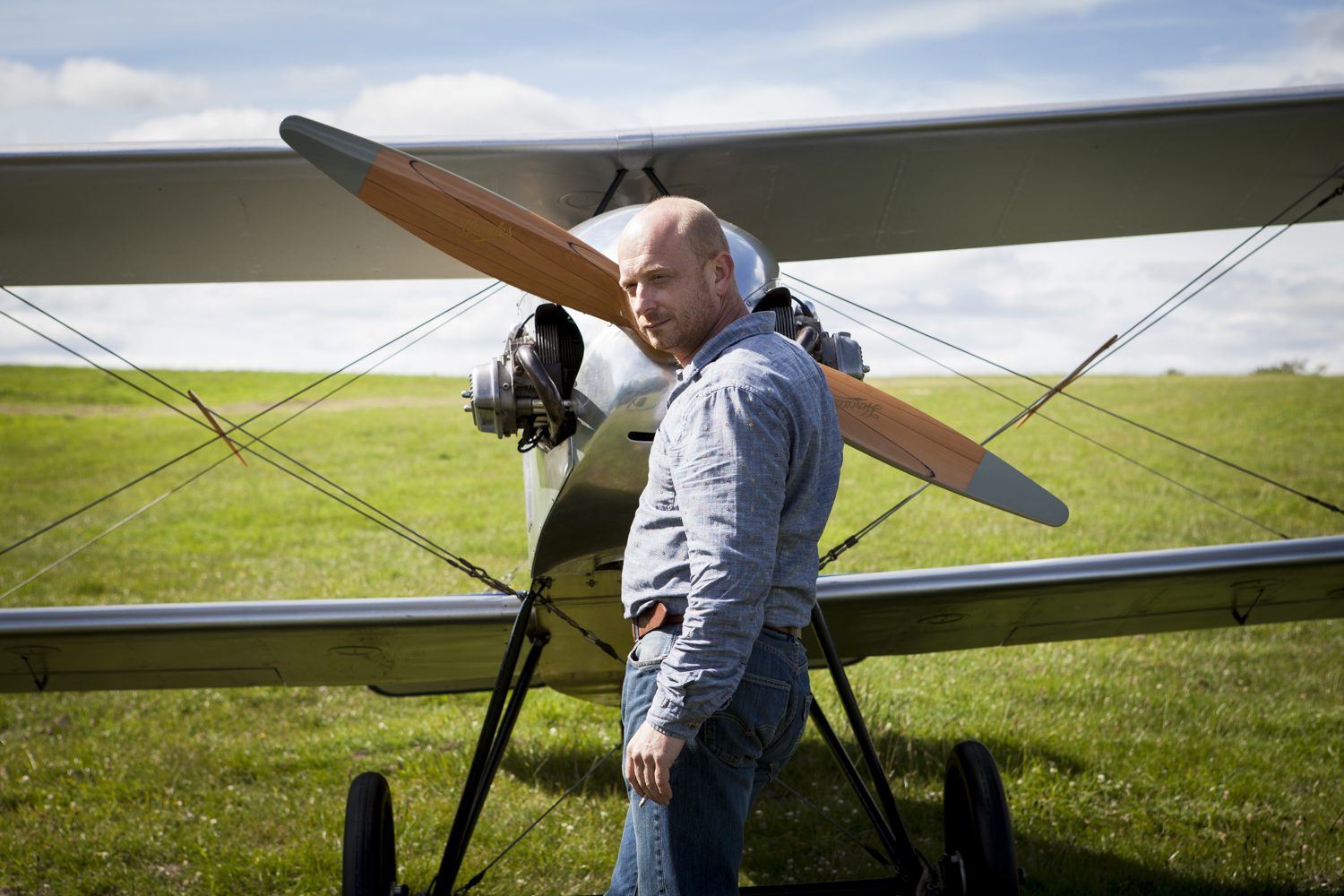Rupert with his aeroplane