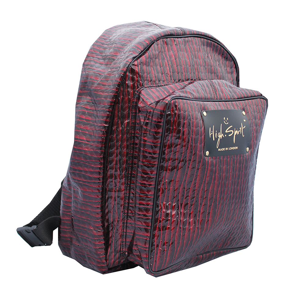 High Spirit Bags Red Lazer Backpack F.png
