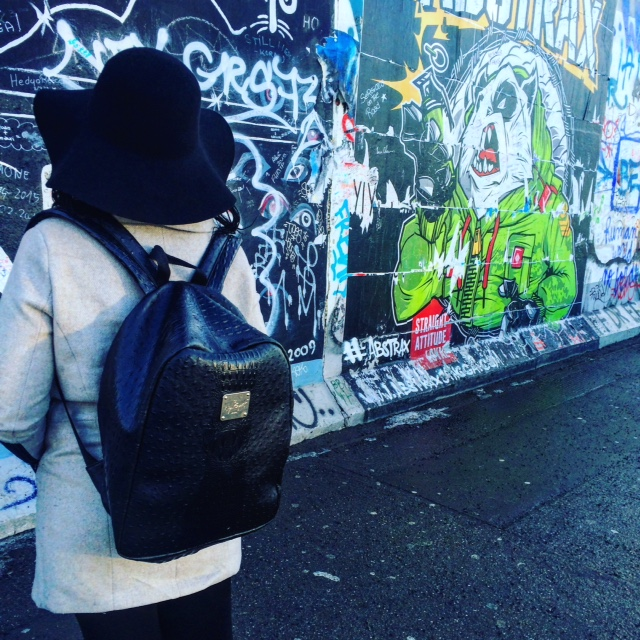 Spotted a wonderful customer in front of the Berlin Wall.