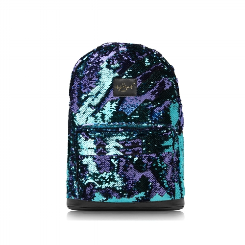 blue sequin high spirit bag