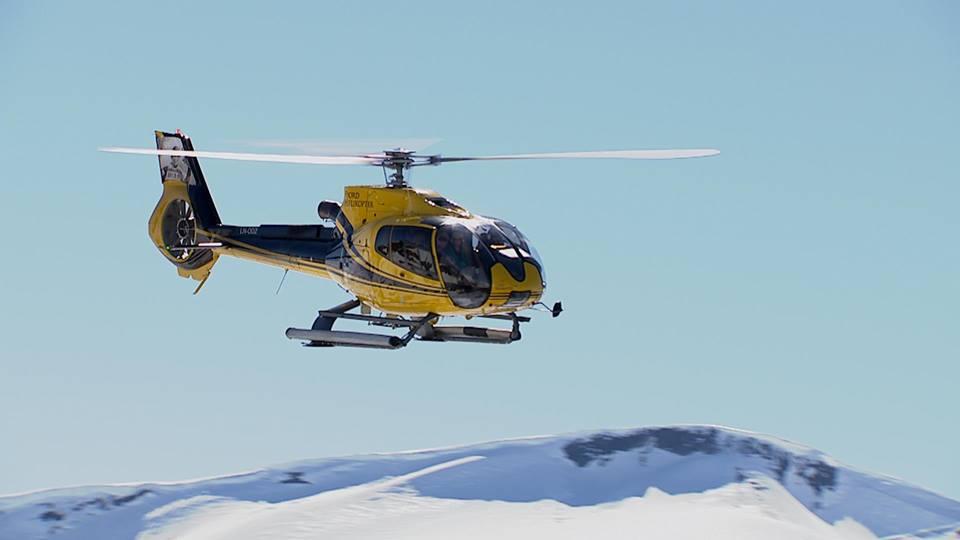 Fjord Helicoptero en Noruega