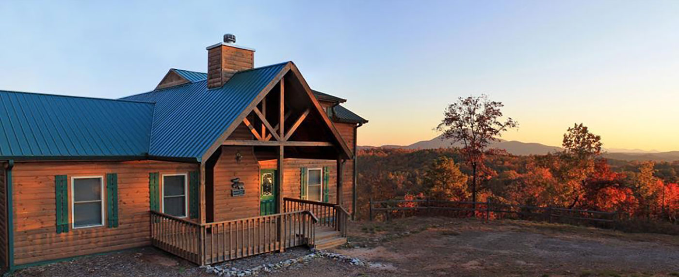 Georgia Mountain Rentals Cabins with metal roofs