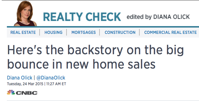 The full backstory on the big bounce in new home sales....click here for more!