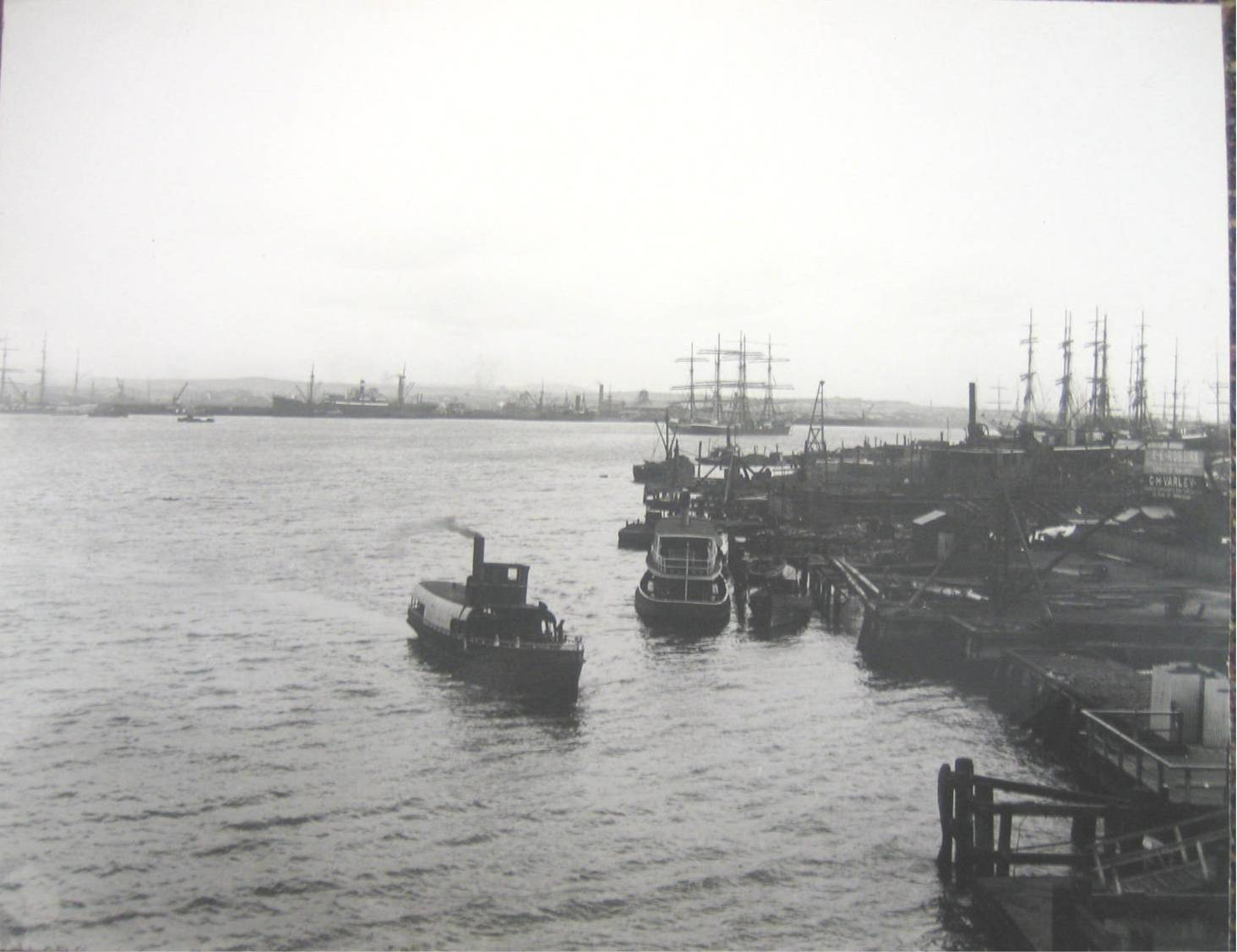 An early shot of Newcastle's famous ship port.