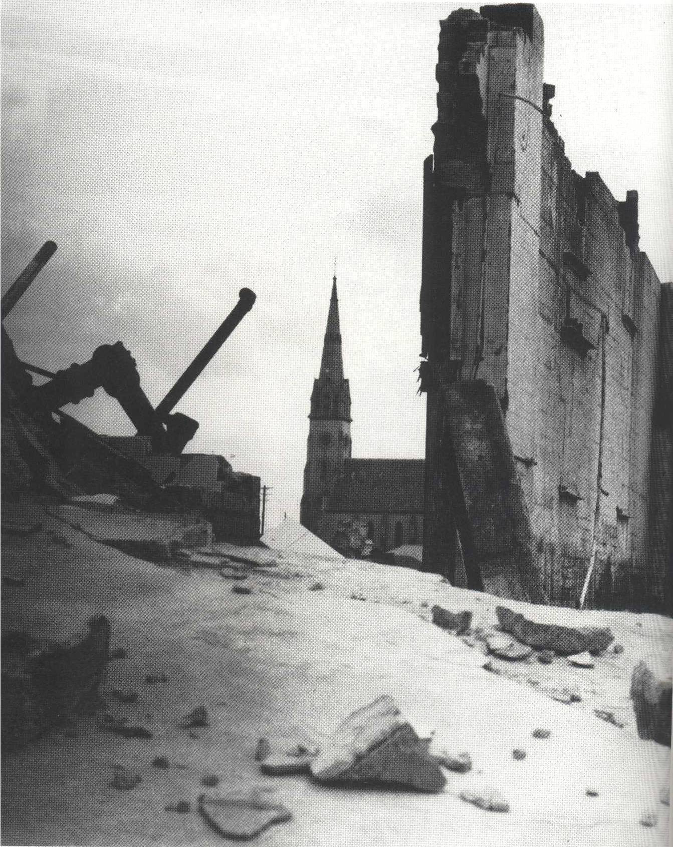 The last remnants of Varley's Darby Street facility during its demolition in 1965.
