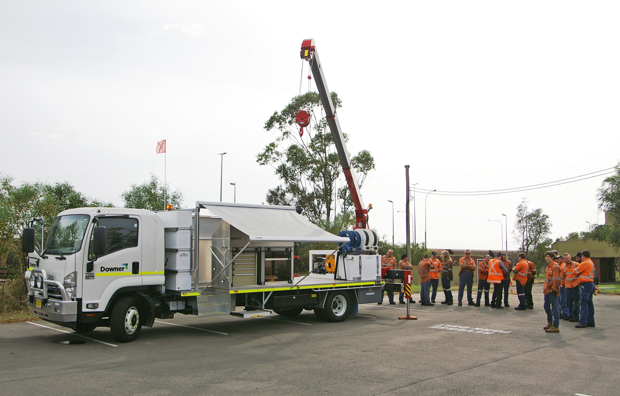 Downer Group's new rail service vehicle, constructed by Varley Specialised Vehicles.