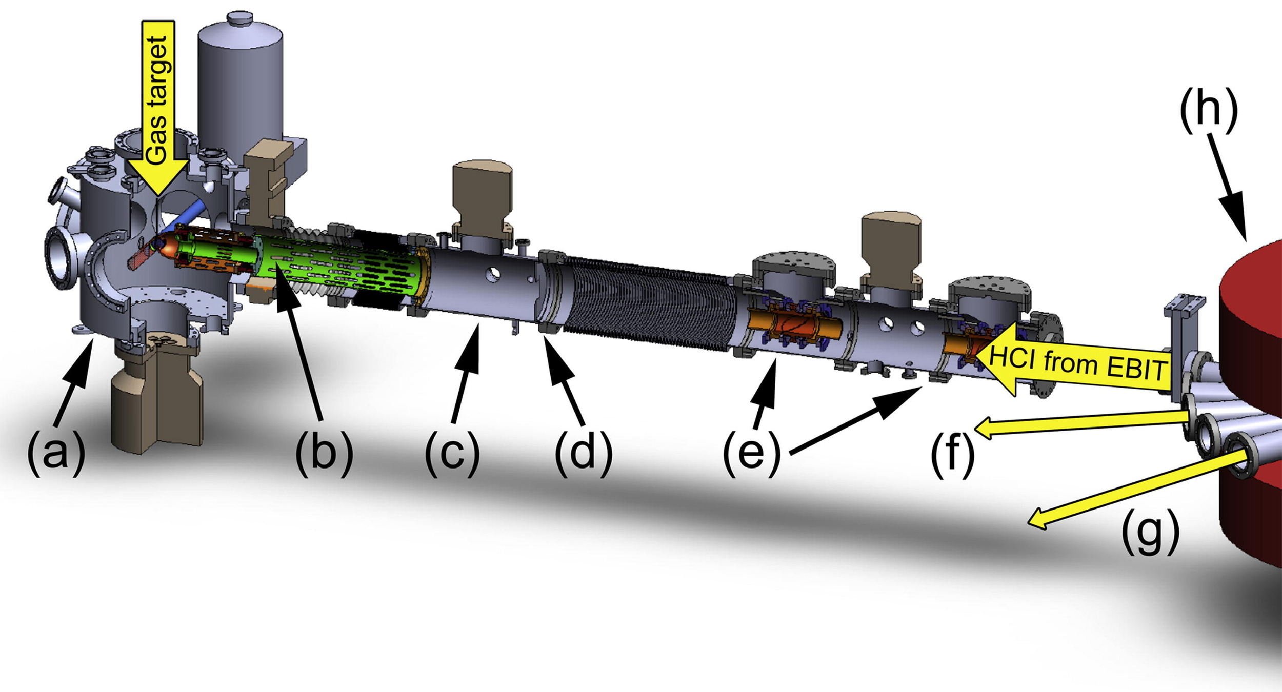 Illustration of the deceleration beamline. Image reproduced with permission©Elsevier 2010.