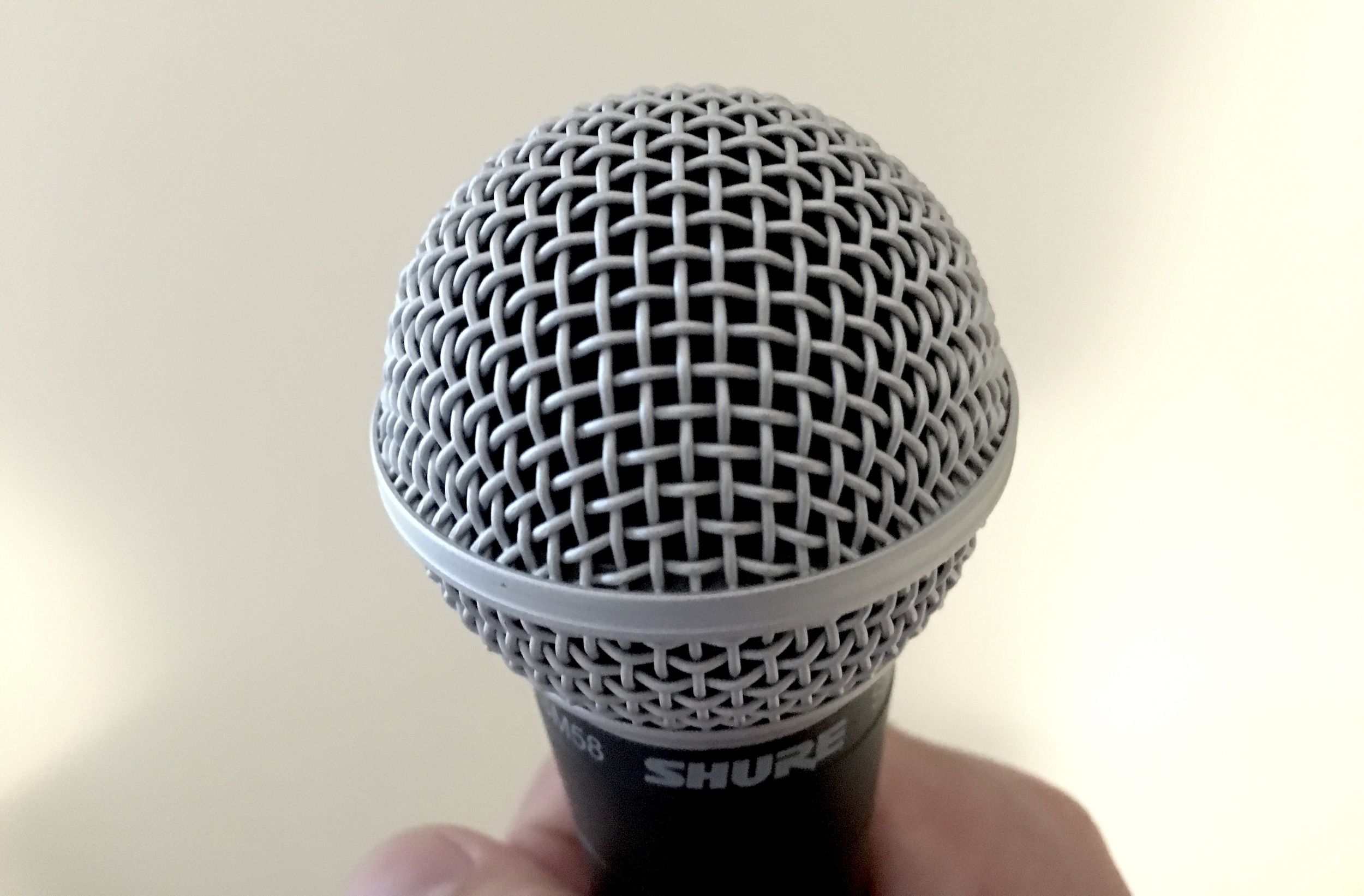 Having a microphone up close and personal can be a daunting experience