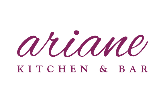 "Identity for Ariane Kitchen & Bar. Verona, NJ. This is a personal ""signature"" identity of the chef and owner that expresses her personality and the vibe of the eatery."